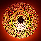 SFL Light Handcrafted Mosaic Decorated Circular Red Glass Ceiling Lamp (sfl-2712/32)