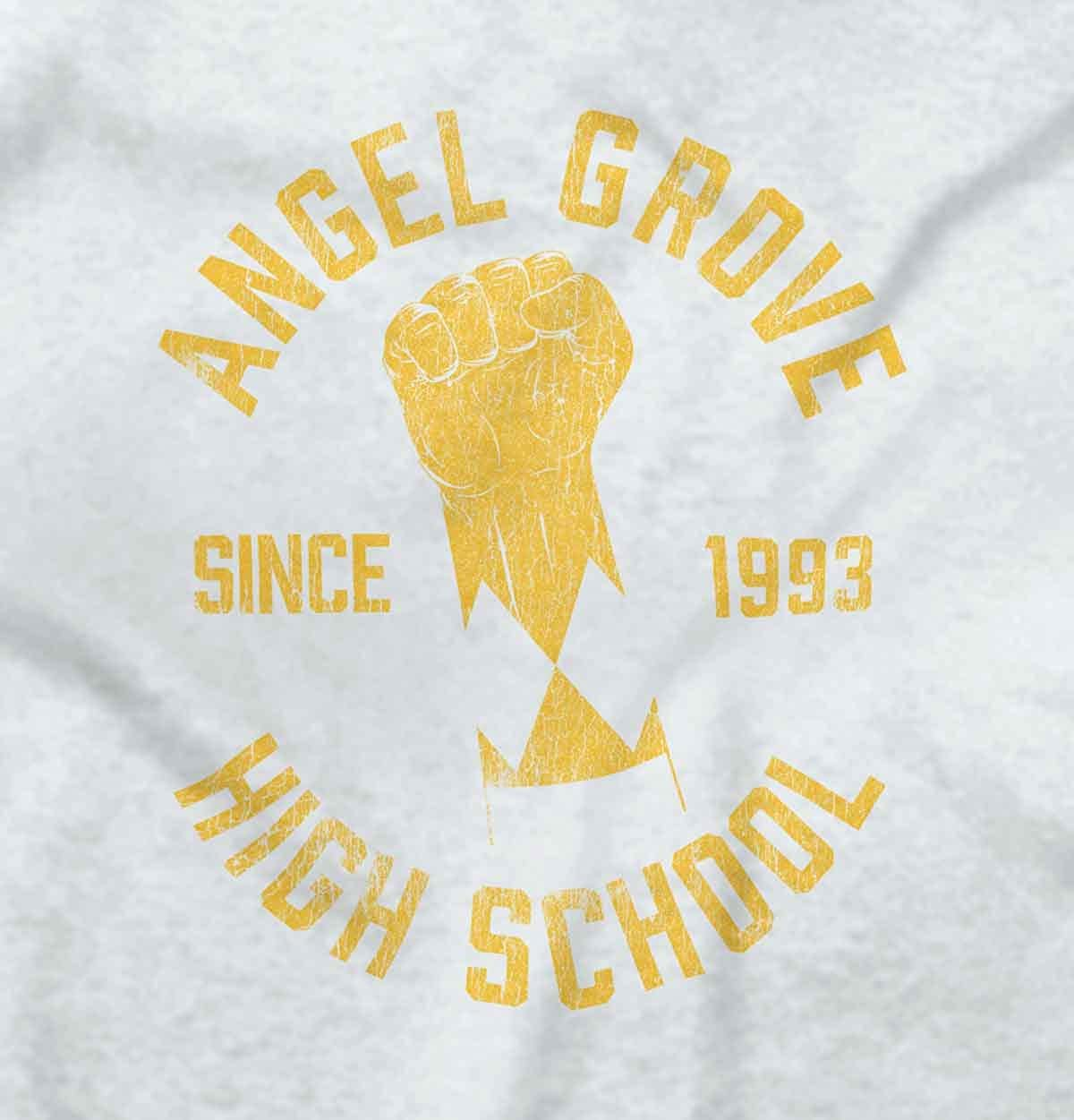 Brisco Brands Angel Grove School Mighty Morphin Retro TV Youth Long Sleeve T Shirt