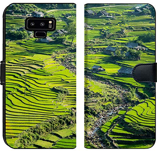 Samsung Galaxy Note 9 Flip Fabric Wallet Case Image ID 34580481 Rice Terrace Near Sapa Town in North Vietnam