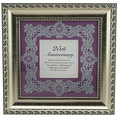 Faithworks 25th Framed Wall Art/Tabletop, 8 x 8