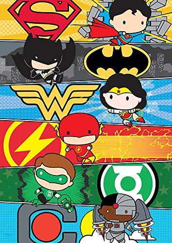 MightyPrint DC Comics Justice League (Chibi League) Wall Art Next Generation Premium Print