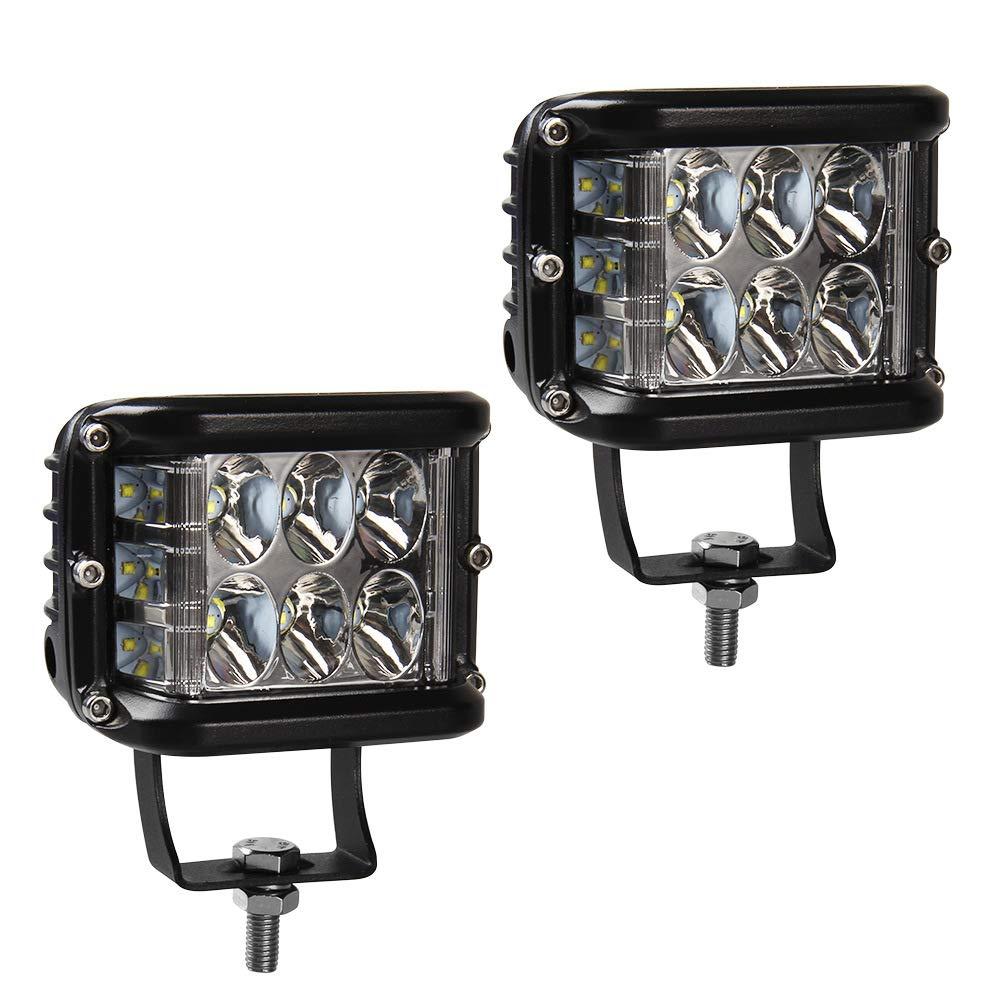 Faro da Lavoro LED Auto, 45W CREE LED Luci Barra Spot Beam, Doppio Lato LED Pods 3000lm Off Road Driving Fendinebbia, 6000K Bianco, Confezione da 2 Startway Autopart