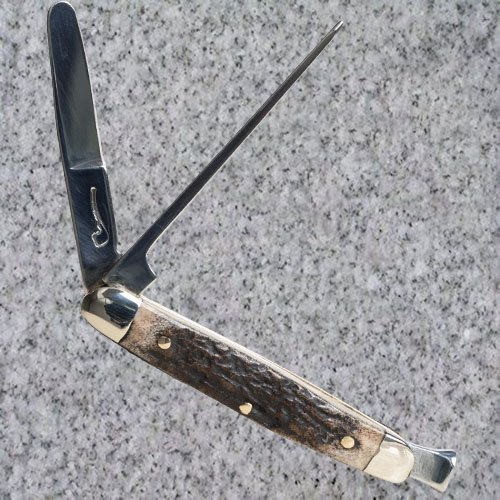 Rodgers of Sheffield, Tobacco Pipe Knife Tool - Stag Horn Inlay
