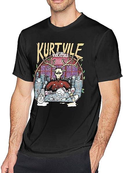 lkjhg478 Camiseta Vintage Hombre Kurt Vile Negra: Amazon.es: Ropa y accesorios