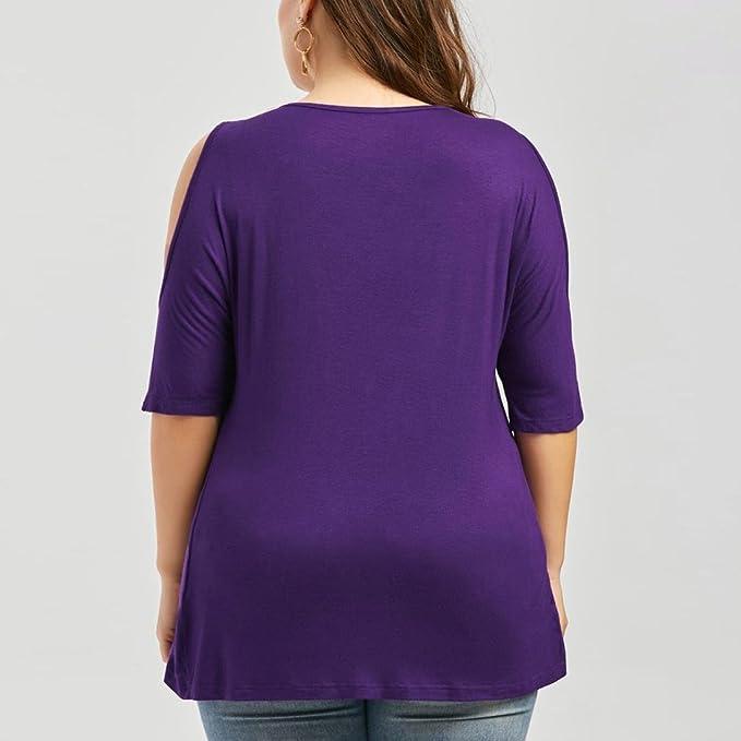 Xinantime_Blusa de mujer Camisetas Mujer Verano Elegante Camisetas Mujer Manga Corta Algodón Camisetas Mujer Fiesta Camisetas Sin Hombros Mujer Camisetas ...