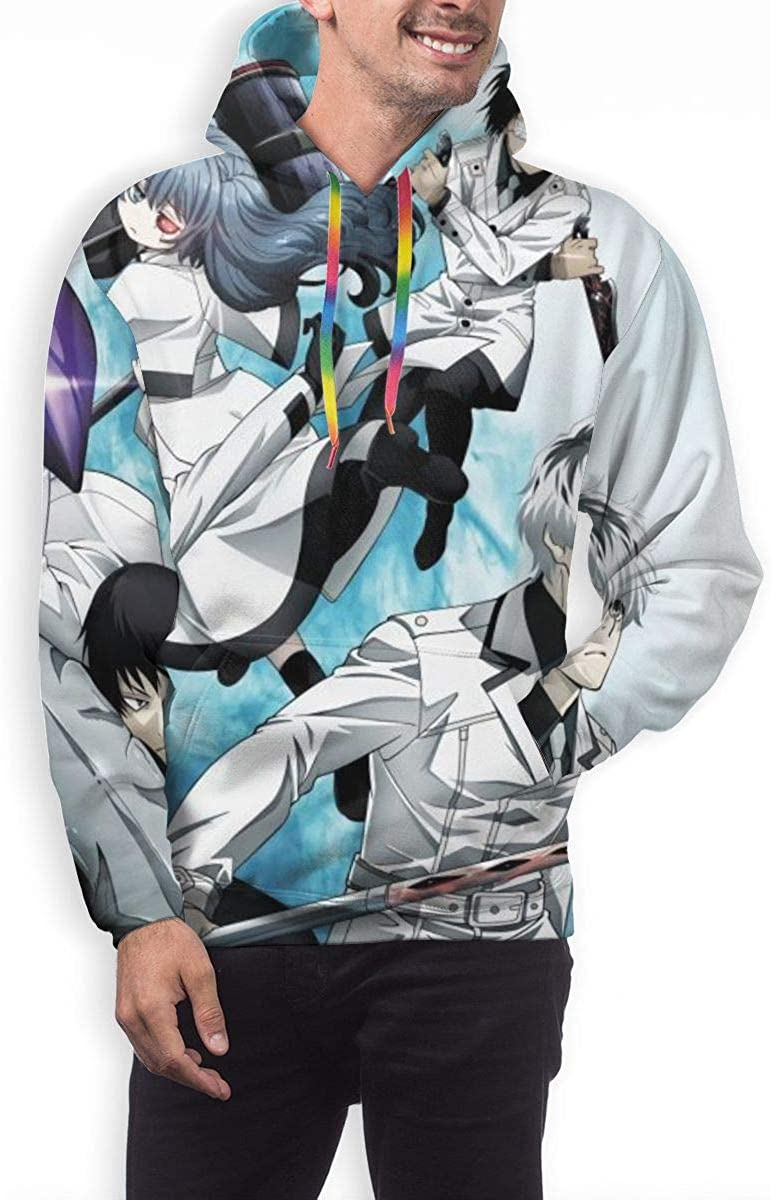MichaelWare Mans Casual Tokyo Ghoul Full Size Printing Pocket Hooded