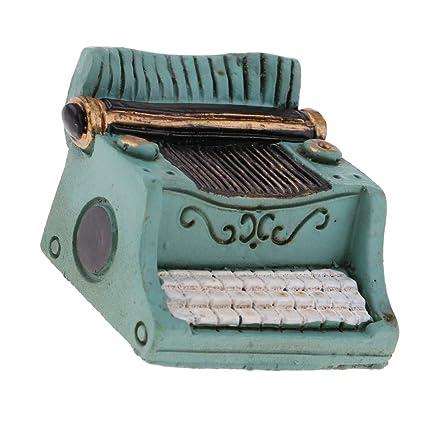 Baoblaze Juguete Pretender Niños Mini Máquina de Escribir para Casa de Muñecas 1/12 -