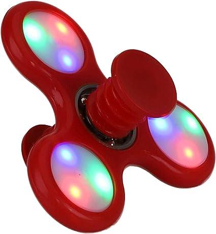 TOYLAND Spinnerooz Red Light Up Hand Spinner Juguete de Novedad ...