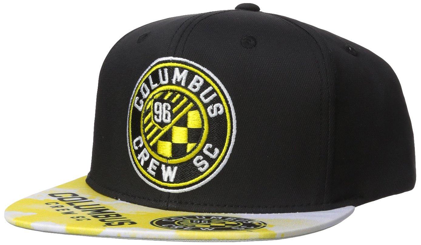 on sale 0c479 f32aa Amazon.com   adidas MLS Columbus Crew Adult Men Sublimated Flat Brim  Snapback Hat, One Size, Black   Clothing