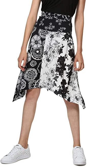 Desigual Skirt Knee Paola Woman Black Falda para Mujer: Amazon.es ...