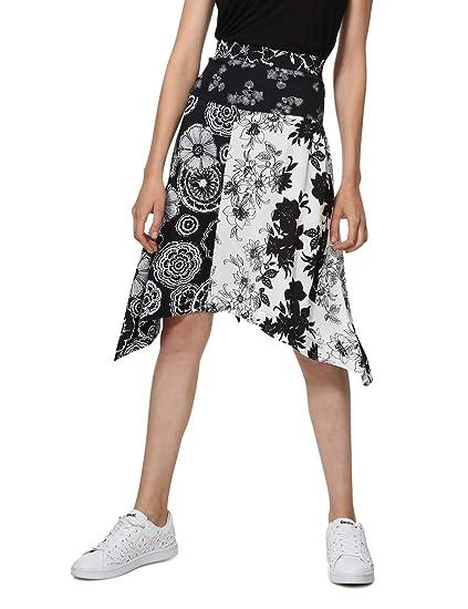 Desigual Skirt Knee Paola Woman Black Falda para Mujer: Amazon.es ...