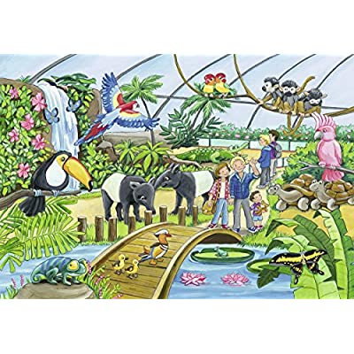 Ravensburger 07806, Welcome to The Zoo 2 x 24 Piece Puzzles in a Box, 2 x 24 Piece Puzzles for Kids, Every Piece is Unique, Pieces Fit Together Perfectly: Toys & Games