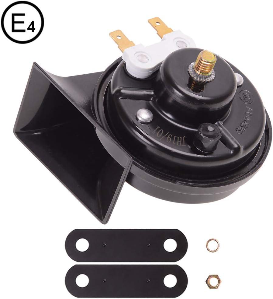 Evermotor Universal Loud Snail Claxon Horn para motos de camiones de coches 12V 500 Hz 118 dB