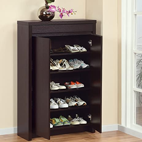 Amazon.com: Shoe Cabinet with Storage Drawer Includes Five Shelves ...