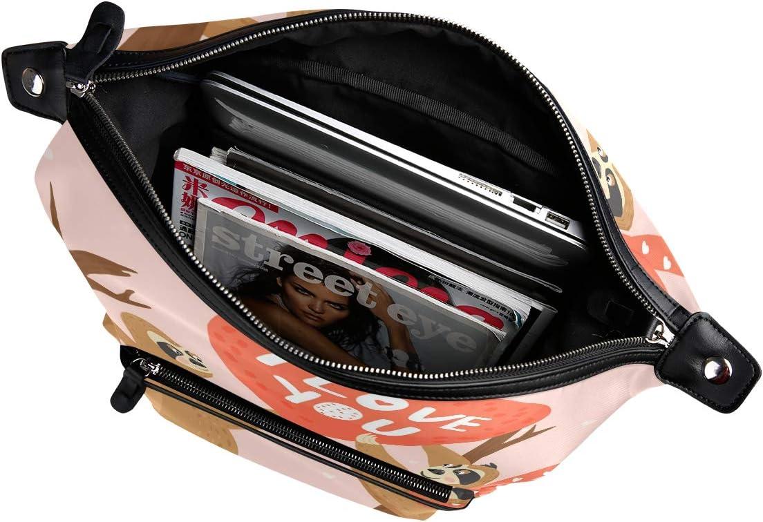 Cute Sloth I Love You Backpack for Women Men Girl Boy Daypack Fashion Laptop Backpack School College Hiking Travel Bag Bookbag Schoolbag