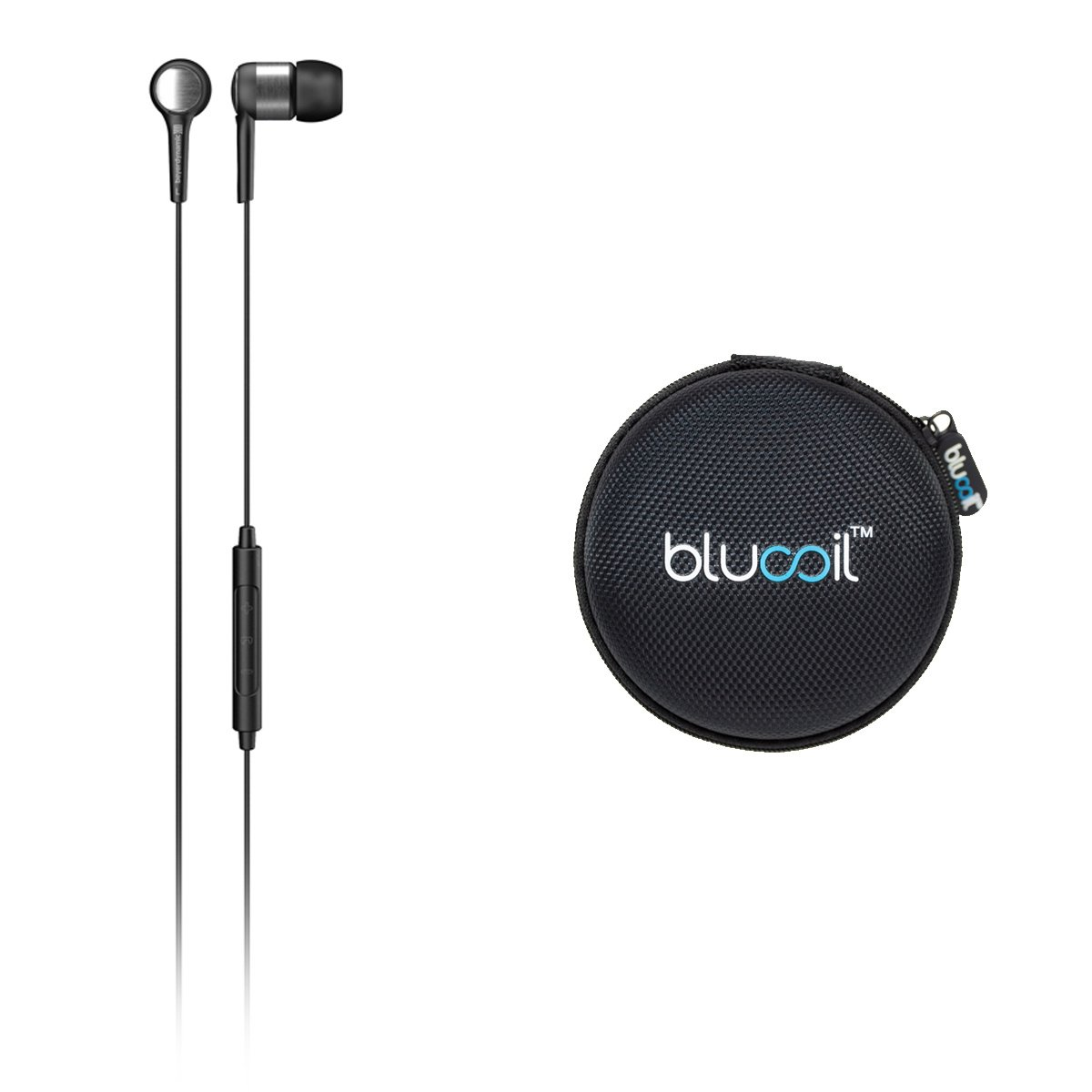 Beyerdynamic BYRON Wired In-Ear Headphones with Mic/Volume Control -INCLUDES- Blucoil Portable Earphones Hard Case