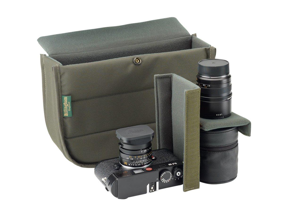 Sistema de Apertura r/ápida, Anti-Lluvia Billingham Small Pro Color Negro y Tostado Bolsa fotogr/áfica de Lona