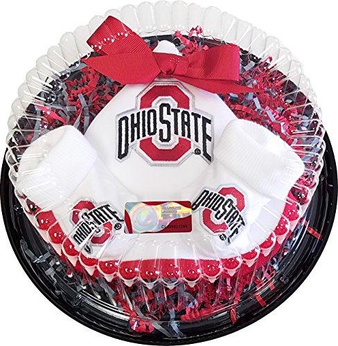 Cotton Ohio Onesie (Future Tailgater Ohio State Buckeye Baby Piece of Cake Set)