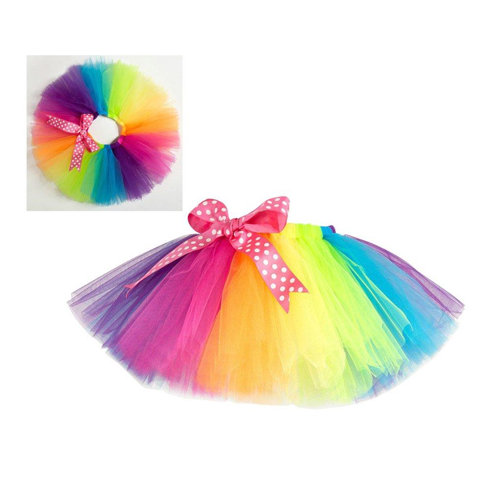 ef8a2df17 Buy FENICAL Kids Rainbow Tutu Skirt Girls Dance Ballet Party Dress ...