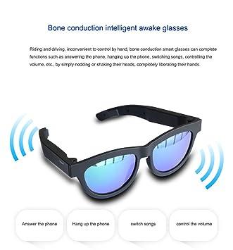 Versión de actualización Conducción ósea Gafas inteligentes despiertas Gafas de sol polarizadas, Música estéreo Gafas