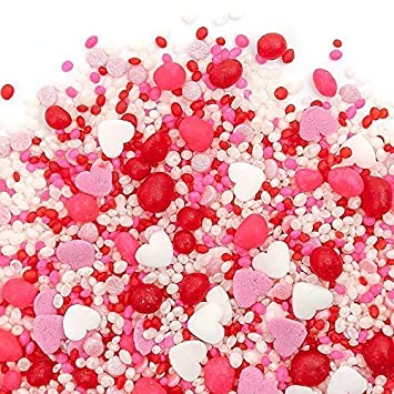 Candy Sprinkles | XOXO Candyfetti | Red Pink and White | MADE IN THE USA! |  Edible Confetti