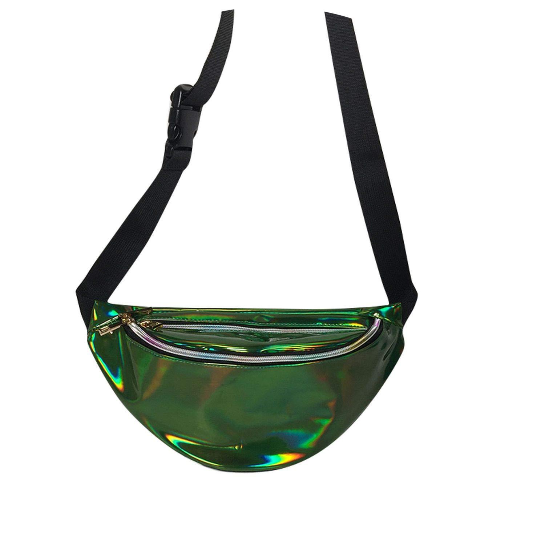 Pack Womens Handbag Laser Purse Translucent Reflective Chest Waist Pack Women Belt Bag Waist Leg Bag,B