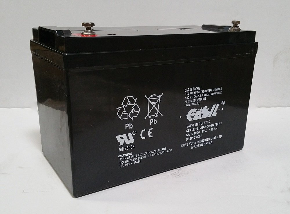 12v 100ah for Zoeller 508 Aquanot Backup Sump by Casil