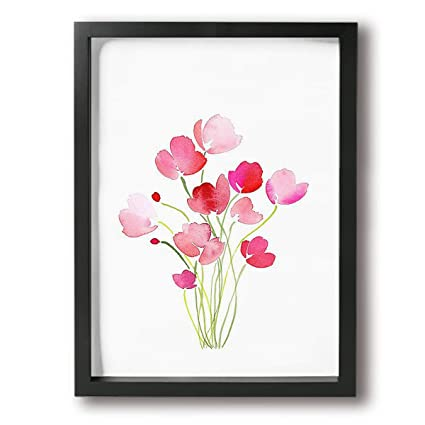 Amazon com - Painting Photo Black Picture Frame Flowers