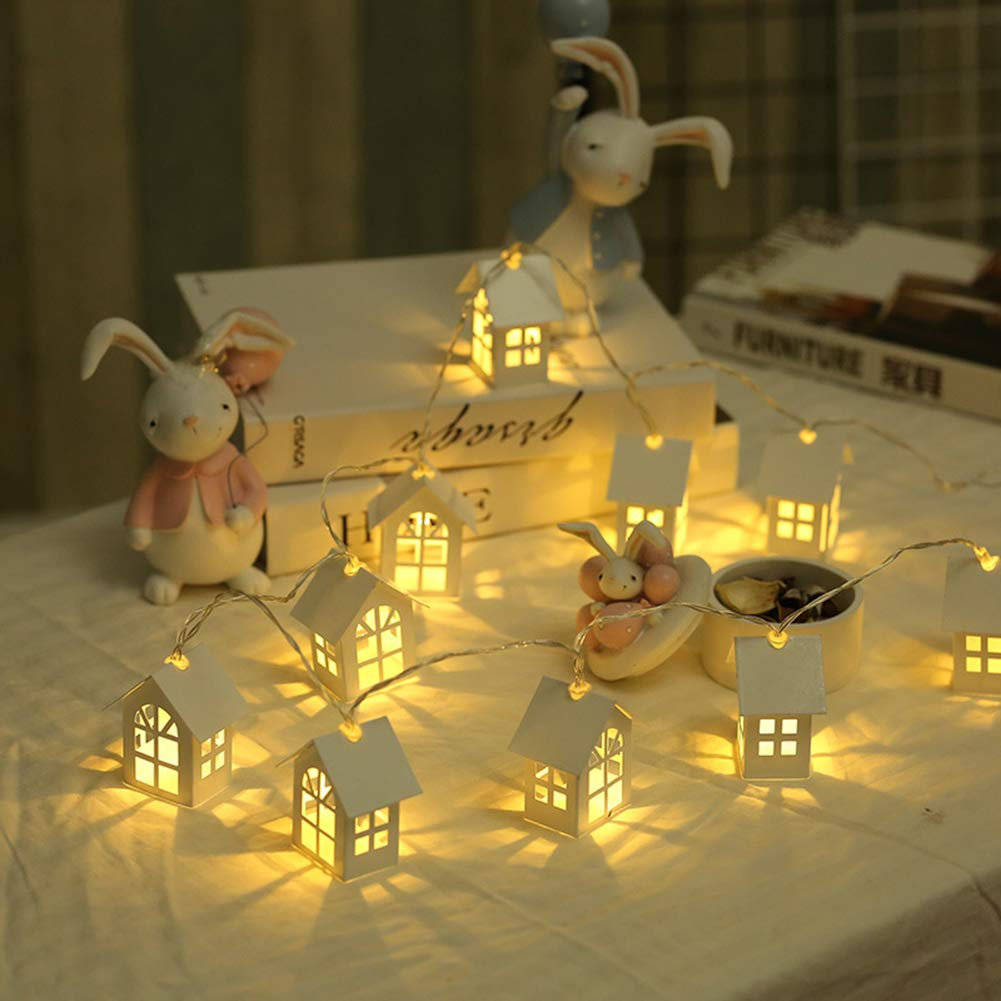 Catnew 2m LED Christmas Tree House Style Fairy Light String New Year Home Decoration Battery