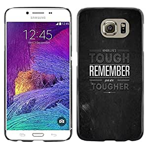 Samsung Galaxy S6 / SM-G920 , Radio-Star - Cáscara Funda Case Caso De Plástico (Remember - Deep Message)