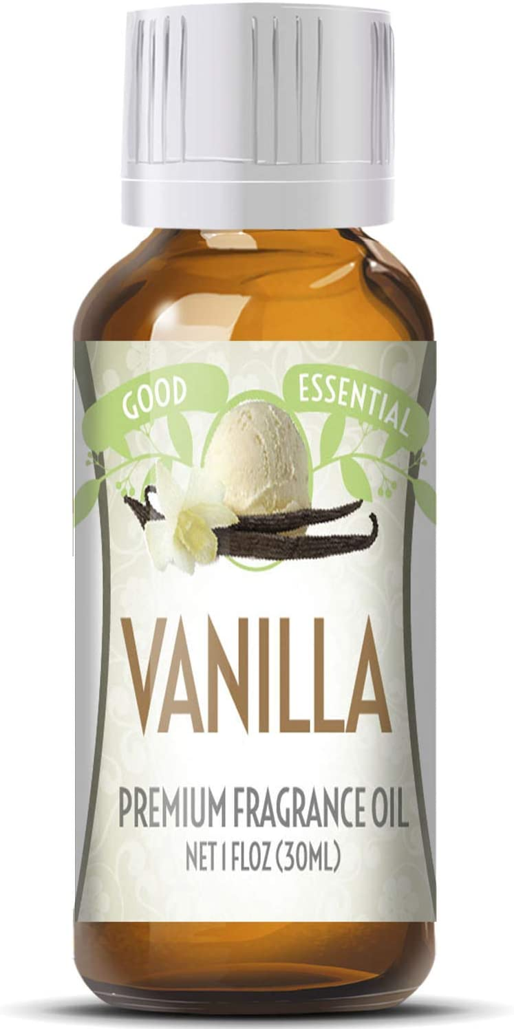 Vanilla Scented Oil by Good Essential (Huge 1oz Bottle - Premium Grade Fragrance Oil) - Perfect for Aromatherapy, Soaps, Candles, Slime, Lotions, and More!