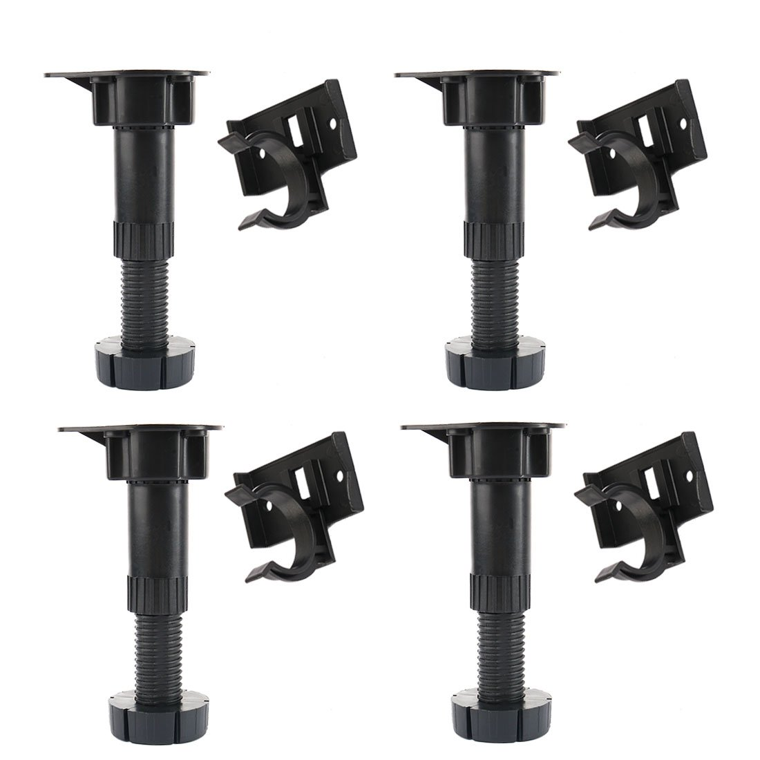 Adjustable Height Cabinet Cupboard Leg Foot for Kitchen Bathroom 4pcs uxcell a15072700ux0255