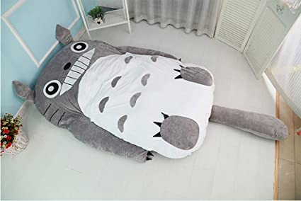 Cute dibujos animados Totoro Cama Doble Saco de dormir para sofá cama colchón para niños o