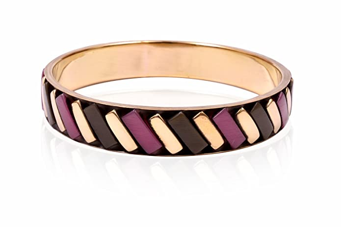Trendy Baubles Purple & Gold Bangle For Women Bangles at amazon