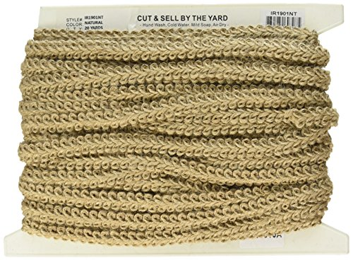 Trim Jute (Expo International Alice Classic Woven Braid Trim, 20-Yard, Natural)
