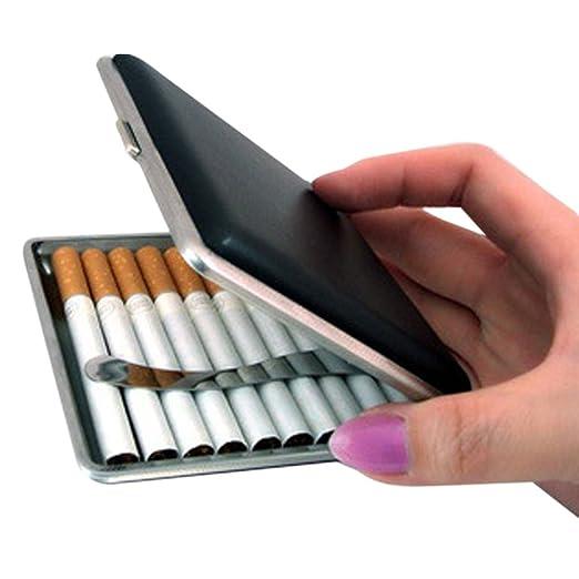 Dxlta Caja de Tabaco para Cigarrillos de Bolsillo de Cuero de Moda - Porta Regalo de Almacenamiento de Tabaco
