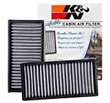 honda crv 2003 cabin filter - K&N VF2022 Washable & Reusable Cabin Air Filter Cleans and Freshens Incoming Air for your Honda, Acura