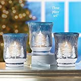 Winter Tree Christmas Votive Candle Holders