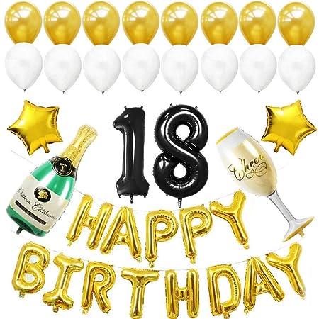 XHJZ-W Decoraciones para Fiestas de cumpleaños número 18 ...