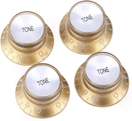 Black w// Gold numbers USA SELLER! 4 PCS Gibson Speed Control Knob Replacement