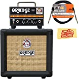Orange PPC108 1x8-Inch Closed-Back Speaker Cabinet - Black Bundle with Orange MD20 Micro Dark Amp Head, Instrument Cable…