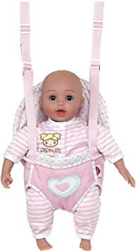 Adora GiggleTime 15Girl Vinyl Weighted Soft Body Toy Play Baby Doll with Laughing Giggles and Harnessed Wrap Carrier Holder for Children 2+