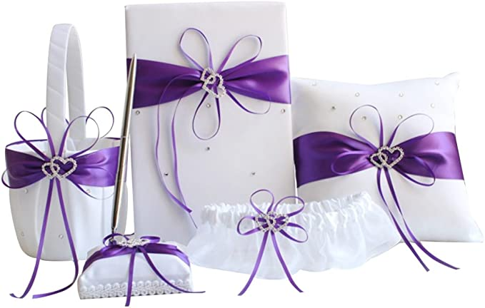 guest book GORGEOUS  BRIDAL SET Ring Pillow,Flower Girl  Basket
