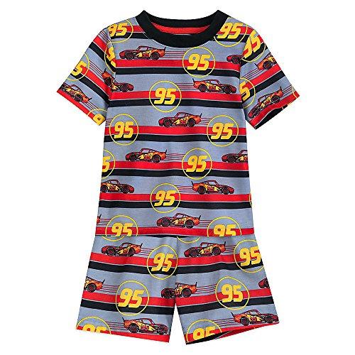 Lightning Mcqueen Short - Disney Lightning McQueen Striped Shorts Sleep Set For Boys Size 9/10