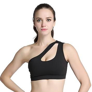 Hankyky Femme Soutien-gorge sport Yoga Course de Workout rembourré sans  coutures individuels épaule Openwork b0113df541a