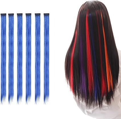 Clip de extensiones de pelo de colores para chicas accesorios ...