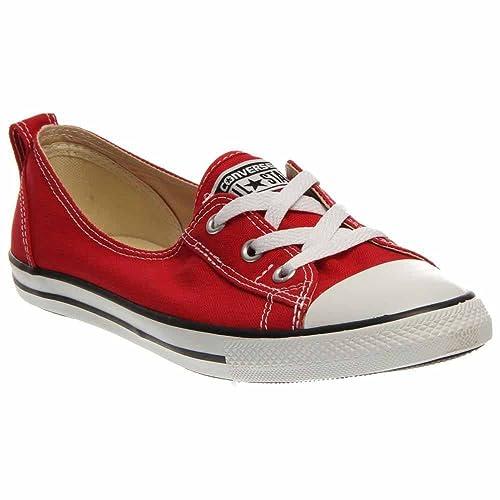 c0e501dcc01 Converse Women s Chuck Taylor CT Ballet Lace Red 547166F Size 9.5   Amazon.ca  Shoes   Handbags