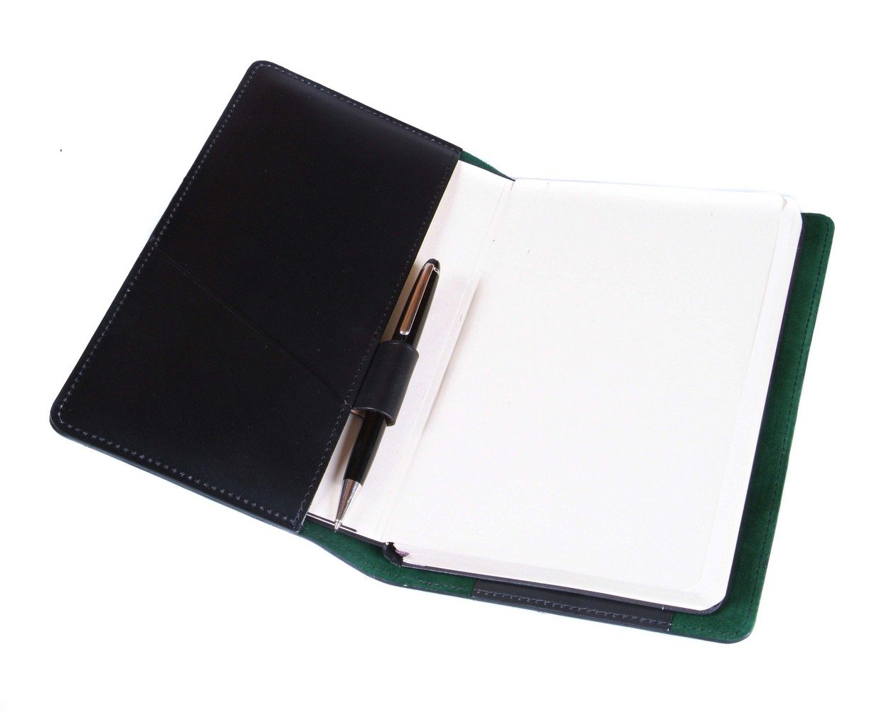 SAGEBROWN Black Bridle Notebook Cover