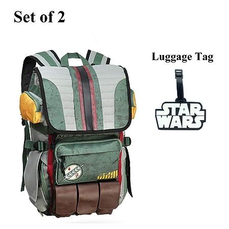 Rebels Alliance Icon Boba Fett Laptop Backpack Star Wars Element Bag Travel  Bag with a Luggage Tag (Boba Fett)  Amazon.co.uk  Luggage bcb786565bf95