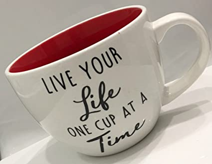 Amazon.com: Large Coffee, Tea, Latte Stoneware Mug by Roscher | Live ...